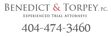 atlanta lawyers benedict and torpey logo with phone number